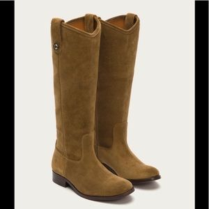 Frye Melissa Button Tall Suede Boot